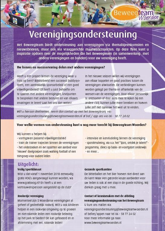 Flyer-verenigingsondersteuning